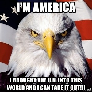 Patriotic Eagle - i'm america i brought the u.n. into this world and i can take it out!!!