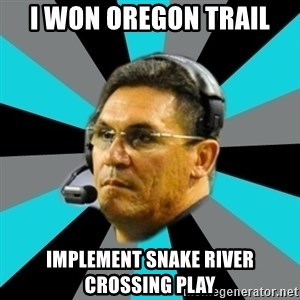 Stoic Ron - i won oregon trail implement snake river crossing play
