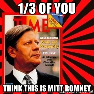Helmut looking at top right image corner. - 1/3 of you think this is mitt romney