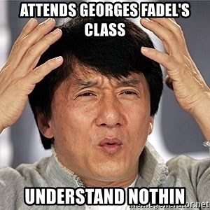 Jackie Chan - Attends Georges Fadel's class Understand Nothin