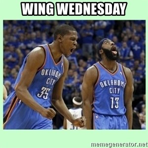 durant harden - WING WEDNESDAY