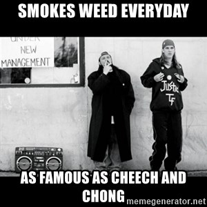 Jay and Silent Bob - smokes weed everyday as famous as cheech and chong