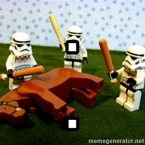Beating a Dead Horse stormtrooper - . .