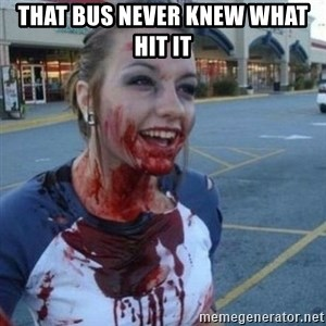 Scary Nympho - That bus never knew what hit it