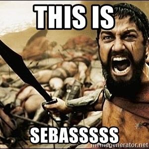 This Is Sparta Meme - THIS IS SEBASSSSS