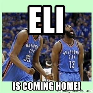durant harden - eli is coming home!