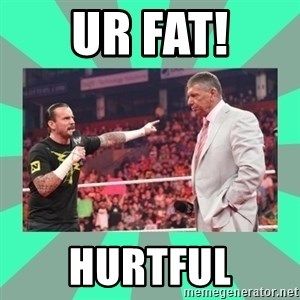 CM Punk Apologize! - UR FAT! HURTFUL