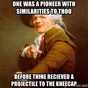 Joseph Ducreux - one was a pioneer with similarities to thou before thine recieved a projectile to the kneecap