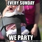 little girl swing - Every Sunday We party