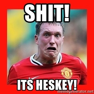 Phil Jones Scared Face - SHIT! ITS HESKEY!