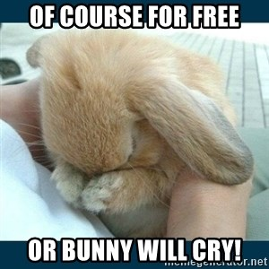 Bunny cry - of course for free or bunny will cry!