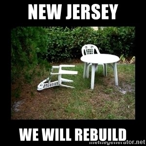 Lawn Chair Blown Over - New Jersey we will rebuild