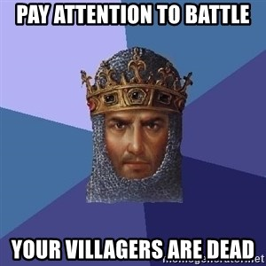 Age Of Empires - pay attention to battle your villagers are dead