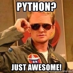 Deal with it barney - python? just awesome!