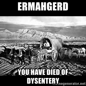 Oregon Trail Vindictus - Ermahgerd you have died of dysentery