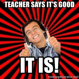 Bad Luck Chuck - teacher says it's good it is!
