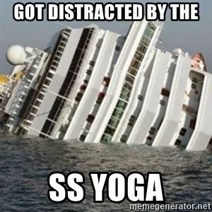 Sunk Cruise Ship - GOT DISTRACTED BY THE  SS YOGA