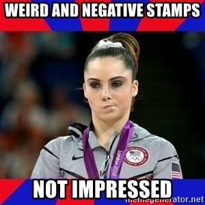 Mckayla Maroney Does Not Approve - weird and negative stamps not impressed