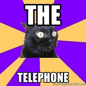 Anxiety Cat - THE TELEPHONE