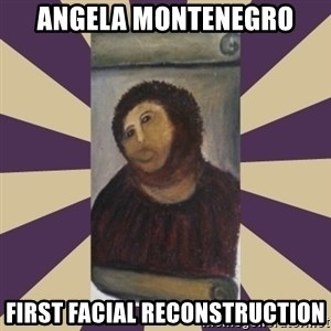Retouched Ecce Homo - ANGELA MONTENEGRO FIRST FACIAL RECONSTRUCTION