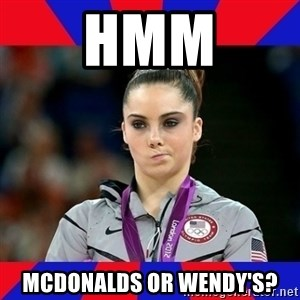 Mckayla Maroney Does Not Approve - hmm mcdonalds or wendy's?