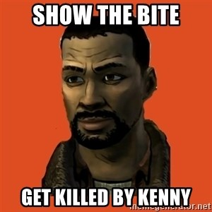 Lee Everett - show the bite get killed by kenny