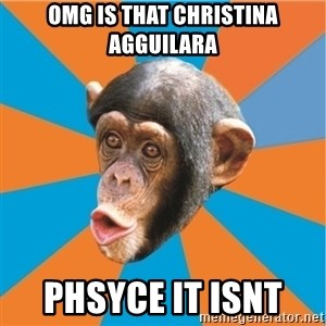 Stupid Monkey - omg is that christina agguilara phsyce it isnt