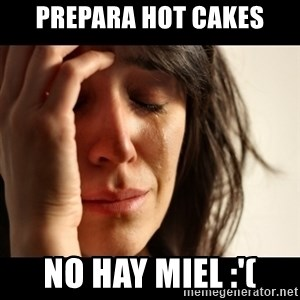 crying girl sad - prepara Hot Cakes No hay miel :'(