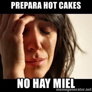 crying girl sad - Prepara Hot cakes No hay miel