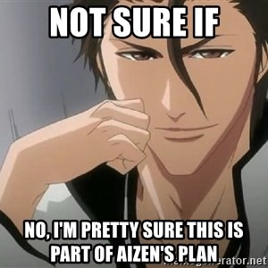 Aizen Plan - Not sure if no, I'm pretty sure this is part of aizen's plan