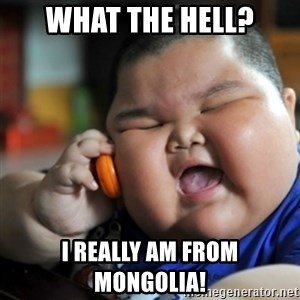 fat chinese kid - What the hell? I really am from mongolia!