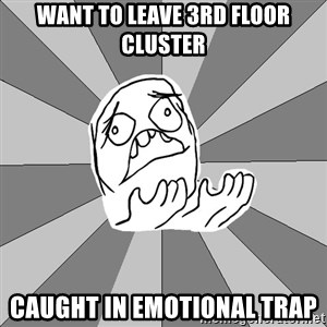 Whyyy??? - Want to leave 3rd floor cluster caught in emotional trap