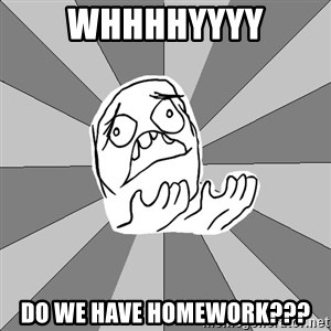 Whyyy??? - Whhhhyyyy do we have homework???