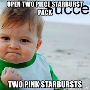 success baby - Open two piece starburst pack two pink starbursts