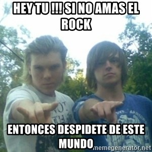 god of punk rock - hey tu !!! si no amas el rock  entonces despidete de este  mundo