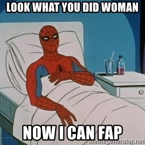 spiderman hospital - look what you did woman now i can fap