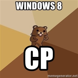 Pedo Bear From Beyond - Windows 8 CP