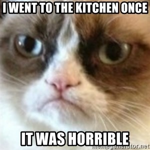 angry cat asshole - i went to the kitchen once it was horrible