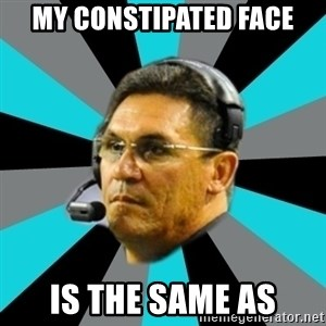 Stoic Ron - my constipated face is the same as