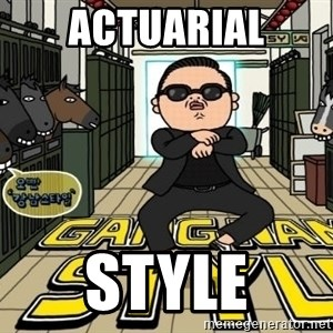 Gangnam Style Cartoon - actuarial style