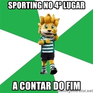 sporting - sporting no 4º lugar a contar do fim