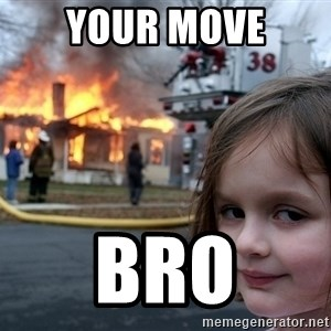 Disaster Girl - Your move bro