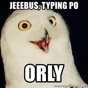 Orly Owl - jeeebus, typing po orly