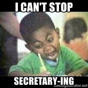 Black kid coloring - I can't stop Secretary-ing