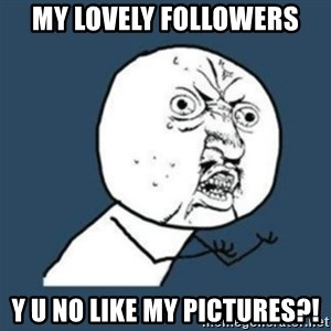 Y U No like - my lovely followers y u no like my pictures?!