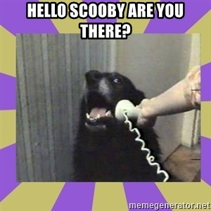 Yes, this is dog! - hello scooby are you there?