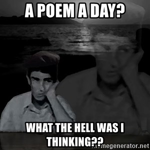 super poetaldo - A poem a day? what the hell was I thinking??