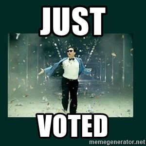 Gangnam style psy - just voted