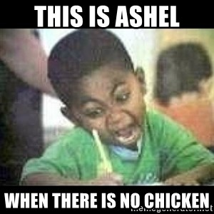 Black kid coloring - this is ashel when there is no chicken