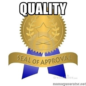 official seal of approval - quality